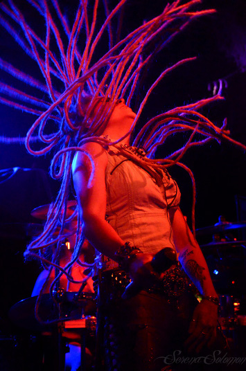 Kobra Paige of Kobra and the Lotus in Cleveland 2012. Photo by Serena Solomon.