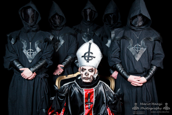 Ghost, photo for Metal Maniac magazine, 2011. Photo by Marco Manzi.